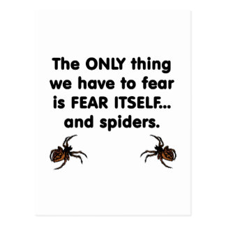 Fear Itself spiders Postcard