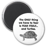 Fear Itself Turtles 2 Inch Round Magnet