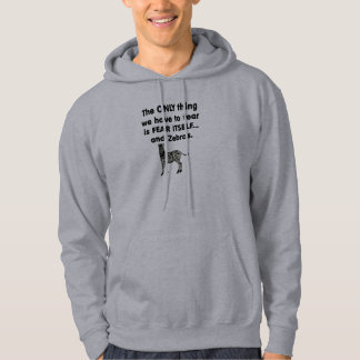Fear Itself Zebras 1 Hooded Pullovers