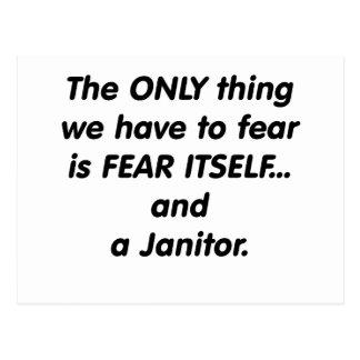 Fear Janitor Postcard