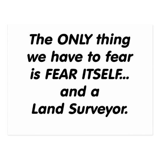 Fear Land Surveyor Postcard