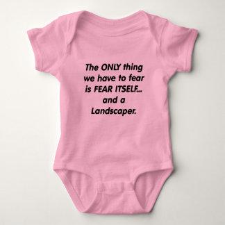 fear landscaper baby bodysuit