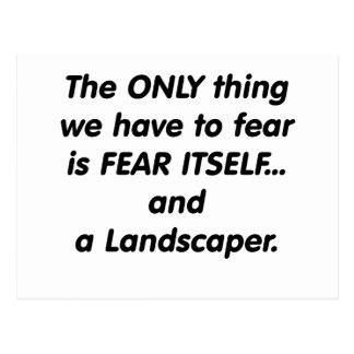 Fear Landscaper Postcard