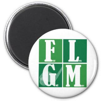 Fear Less Golf More Refrigerator Magnet