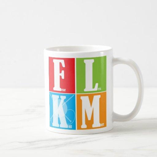 Fear Less Knit More Classic White Coffee Mug