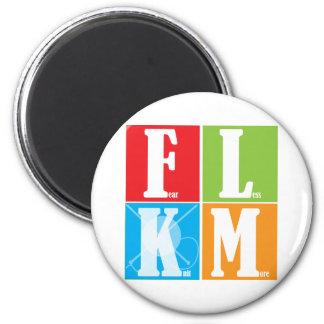Fear Less Knit More Fridge Magnet