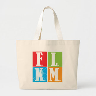 Fear Less Knit More Large Tote Bag