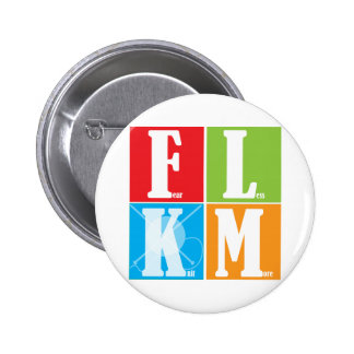 Fear Less Knit More Pinback Button