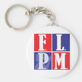 Fear Less Pray More Basic Round Button Keychain
