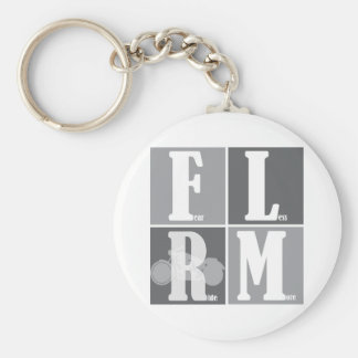 Fear Less Ride More Basic Round Button Keychain