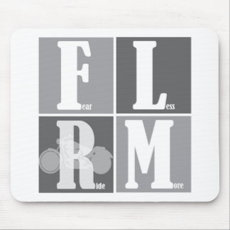 Fear Less Ride More Mouse Pad