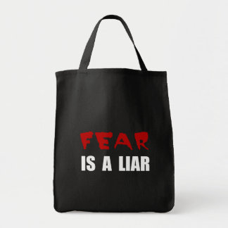 Fear Liar Grocery Tote Bag