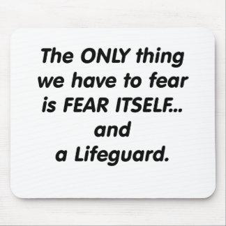 fear lifeguard mouse pad