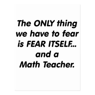 Fear Math Teacher Postcard