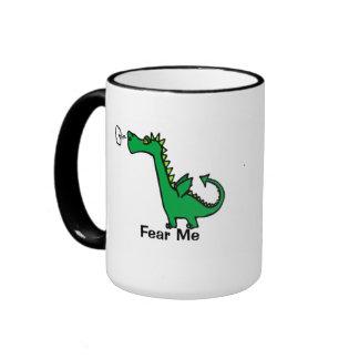Fear Me Cartoon Dragon Coffee Mug