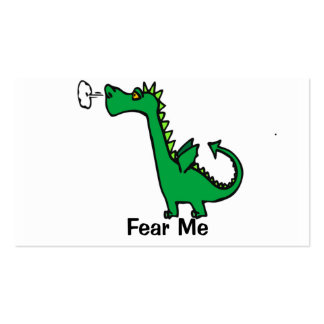 Fear Me Dragon Business Card Template