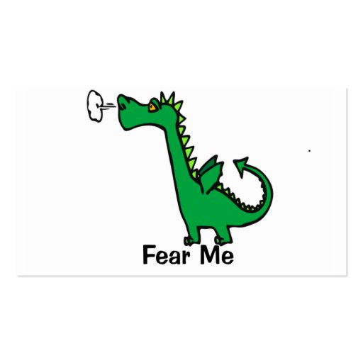 Fear Me Dragon Double-Sided Standard Business Cards (Pack Of 100)