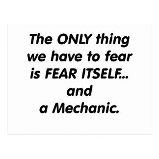 Fear Mechanic Postcard