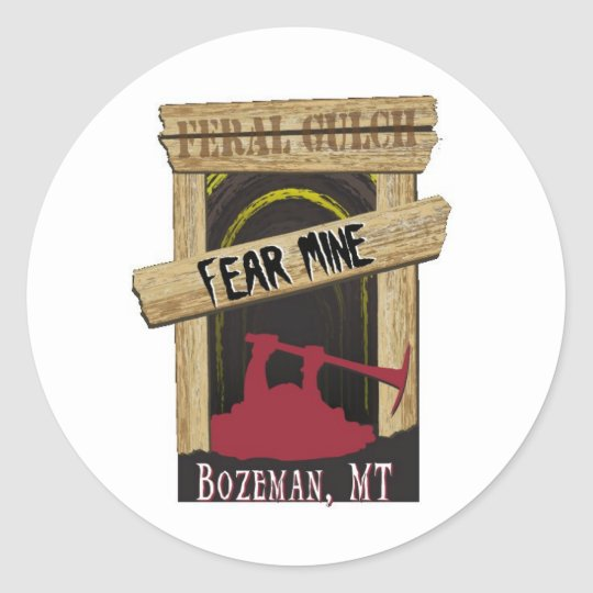 Fear Mine Classic Round Sticker
