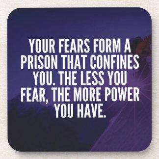 FEAR - Motivational Coaster
