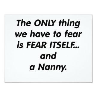 fear nanny 4.25x5.5 paper invitation card