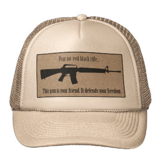 Fear No Evil Black Rifle Hat