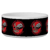 Fear No Evil Honey Badger Funny Animal Red Design Bowl