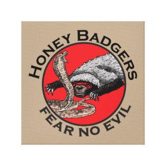 Fear No Evil Honey Badger Funny Animal Red Design Canvas Print