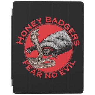 Fear No Evil Honey Badger Funny Animal Red Design iPad Smart Cover