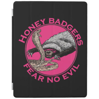 Fear No Evil Honey Badger Funny Pink Animal Design iPad Smart Cover