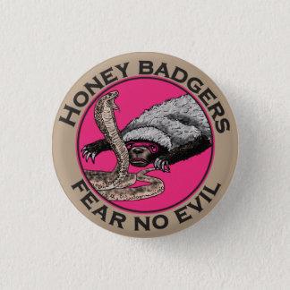 Fear No Evil Honey Badger Funny Pink Animal Design Pinback Button