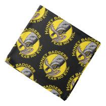 Fear No Evil Honey Badger Snake Animal Art Design Bandana