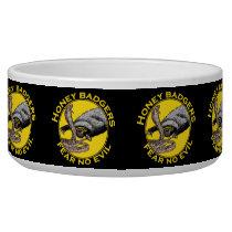Fear No Evil Honey Badger Snake Animal Art Design Bowl