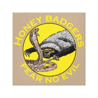Fear No Evil Honey Badger Snake Animal Art Design Canvas Print