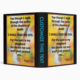 Fear No Evil Psalm Scripture spray painting Vinyl Binder