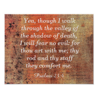 Fear No Evil -- Psalms 23:4 - Art print