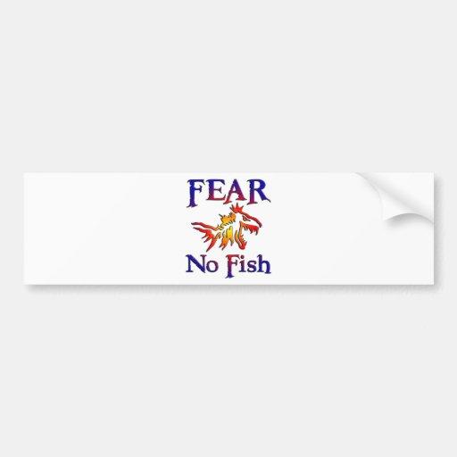 Fear no fish car bumper sticker zazzle for Fear no fish