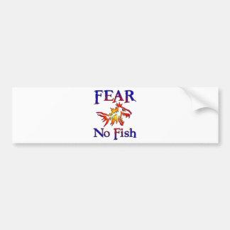 FEAR NO FISH CAR BUMPER STICKER