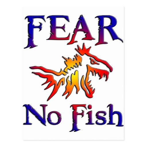 Fear no fish postcard zazzle for Fear no fish