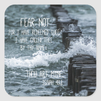 Fear Not Bible Verse Square Sticker