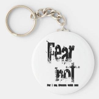 Fear Not Christian Basic Round Button Keychain