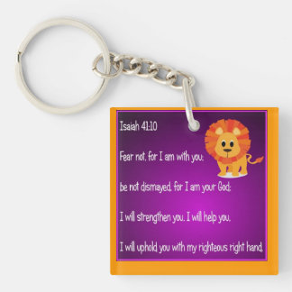 Fear Not Keychain Square Acrylic Key Chain