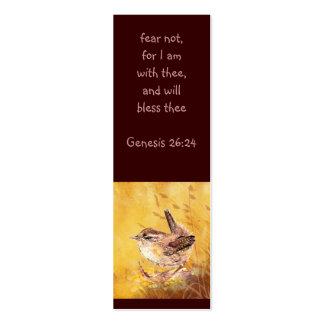 Fear not Scripture Watercolor Bird Bookmark Business Cards