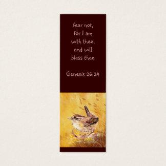Fear not Scripture Watercolor Bird Bookmark Mini Business Card