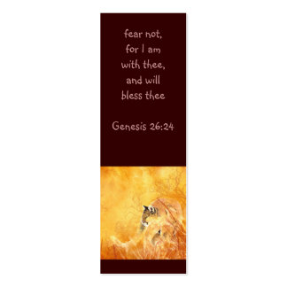 Fear not Scripture Watercolor Cougar Bookmark Business Cards