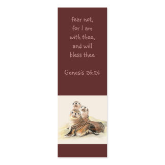 Fear not Scripture Watercolor Seals Bookmark Business Cards