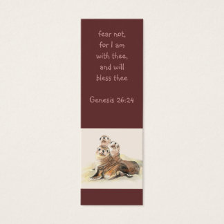 Fear not Scripture Watercolor Seals  Bookmark Mini Business Card