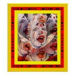 FEAR OF CLOWNS ~ PARANOIA ~ COULROPHOBIA POSTER!