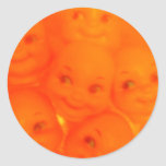 fear of dolls round stickers