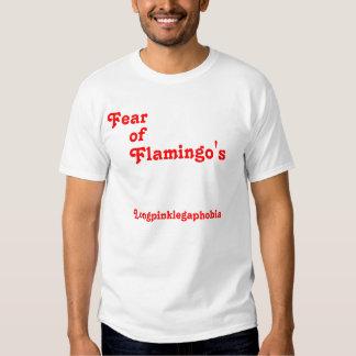 Fear, of, Flamingo's, Longpinklegaphobia T-Shirt